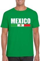 Groen Mexico supporter t-shirt voor heren - Mexicaanse vlag shirts 2XL