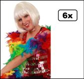 6x Boa luxe regenboog 75 gram 180cm