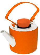 Qdo Cylinder Theepot - 1 l - Porselein - Oranje