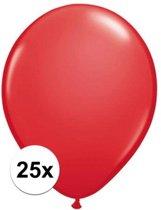 Qualatex ballonnen rood 25 stuks