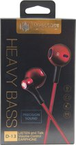 MG In-ear koptelefoon D13 - ROOD, RED