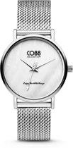 CO88 Collection 8CW-10051 - Horloge - mesh - zilverkleurig - ø 32 mm