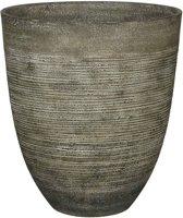 Mica Decorations Echo ronde pot donkergroen maat in cm: 50 x 45
