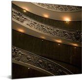 Schitterende trappen in het Vaticaanse Musea Aluminium 90x90 cm - Foto print op Aluminium (metaal wanddecoratie)