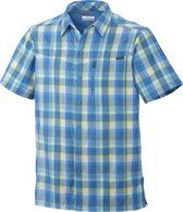 Columbia Silver Ridge Multi Plaid Short Sleeve Shirt - heren - blouse korte mouwen - maat XL - blauw/wit geruit