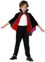 Zwart en rood vampier cape voor kinderen - Verkleedattribuut