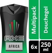 Axe Africa For Men Douchegel - 6 x 250 ml - Voordeelverpakking