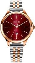 ZINZI Classy ZIW1038 34mm rood rosé + gratis Zinzi armbandje