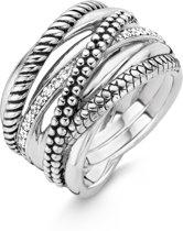 TI SENTO Milano Ring 12066ZI - Maat 56 (17,75 mm) - Gerhodineerd Sterling Zilver