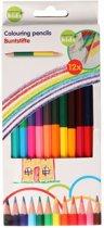 Set van 12 dubbelzijdige kleurpotloden