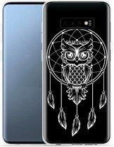 Galaxy S10e Hoesje Dream Owl Mandala White