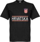 Kroatië Keeper Team T-Shirt - Zwart  - XS