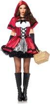 Gothic Roodkapje Deluxe Kostuum | Sexy verkleedkleding dames maat S