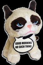Grumpy Cat - Pluche knuffel met naam bordje - 13cm