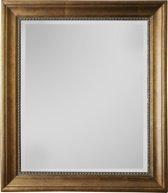 Qweens - Spiegel - Lotte- antiek goud - buitenmaten breed 75 cm x hoog 135 cm.