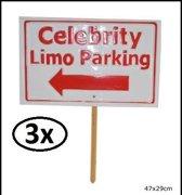 3x Tuinbord Celebrity parking Aanbieding
