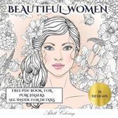Adult Coloring Beautiful Women