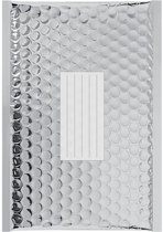 100 x Zilver metallic luchtkussen enveloppen D/1 - 260x180mm - zelfklevende strip - Office Depot / Viking