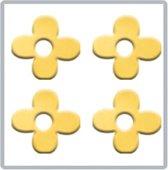 Veronica NAIL-PRODUCTS BLOEM goud nail art inlay, metalen nagelstickers / inlays, herbruikbaar!