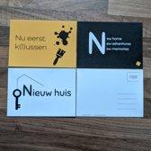 Verhuiskaarten A6 - wenskaarten - ansichtkaarten - set van 6