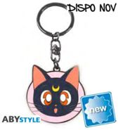 Sailor moon - metal keychain - luna