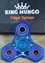 Fidget Spinner Keramische Lagers ABEC   BLAUW Transparant   KMFS015