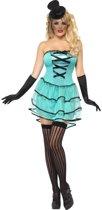 Turkooise Burlesque jurkje | Moulin Rouge verkleedkleding maat M (40/42)