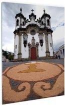 Kerk Brazilie  Glas 80x120 cm - Foto print op Glas (Plexiglas wanddecoratie)