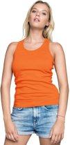 Oranje tanktop/singlet racerback voor dames - Holland feest kleding - Supporters/fan artikelen - dameskleding hemdje/top S (36/48)