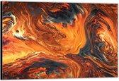 Dibond –Abstracte Lava– 120x80 Foto op Aluminium (Wanddecoratie van metaal)
