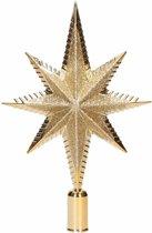 Gouden piek ster vorm 19 cm