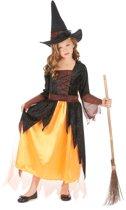 Halloween heks kostuum oranje voor meisjes - Verkleedkleding - 122/128