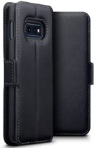 Samsung Galaxy S10e hoesje - CaseBoutique - Zwart - Leer