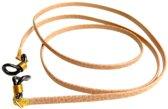 Brillenkoord - plat nappaleer 3 mm - rosegold - goud