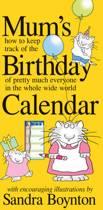 2019 Mums Birthday Calendar