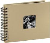 Hama Fine Art spiraal taupe 24x17 50 zwarte pagina's 113675