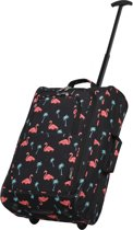 Cities FLAMINGO Reistas Trolley Handbagage Zwart Koffer Flamingo's
