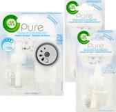 Air Wick Pure Elektrische Geurverspreider Zachtheid van Katoen -Starterkit + 2x Navulling - Voordeelverpakking