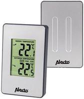 Alecto Draadloos Digitaal Weerstation voor Buiten en Binnen – 4x7x4cm | Temperatuur aanduider