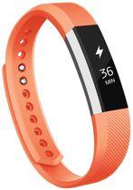 KELERINO. Siliconen bandje voor Fitbit Alta - Oranje - Large