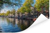 De Prinsengracht in het centrum van Amsterdam Poster 90x60 cm - Foto print op Poster (wanddecoratie woonkamer / slaapkamer)