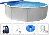 KWAD Zwembadset Steely Deluxe rond 3.6x1.2 m