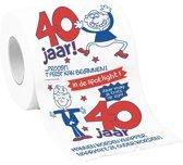 Toiletpapier 40 jaar man