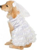 Bruid - Kostuum voor dieren - Maat S