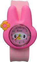 Fako® - Kinderhorloge - Slap On Mini - Konijn - Roze