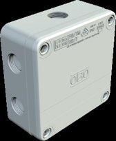 OBO Kabeldoos met 3 wartels M20, 4-6mm2 400V, IP67 110x110x50, PP, lichtgr