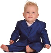 Luxe babykostuum middenblauw-92