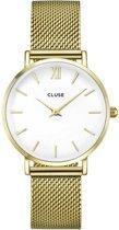 CLUSE CL30010 Minute Mesh - Horloge - Staal - Goudkleurig - Ø 33 mm