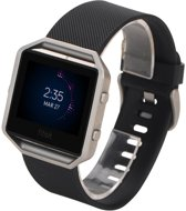 watchbands-shop.nl Siliconen bandje - Fitbit Blaze - Zwart - Large