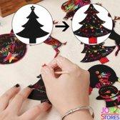 """Kras Tekeningen """"JobaStores®"""" Kerst Hangers (24 delig)"""